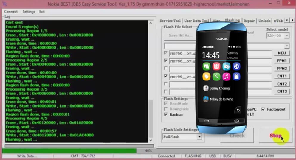 Nokia ASHA 305 RM-766 Flash File