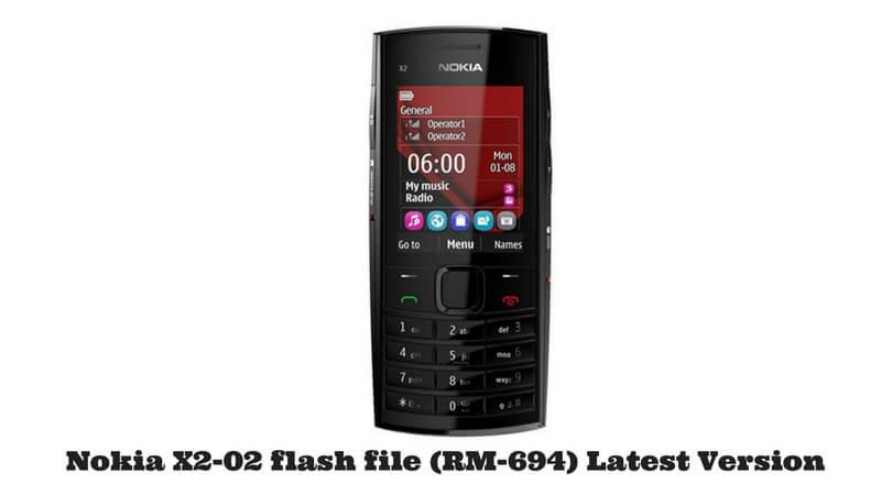 Nokia X2-02 flash file