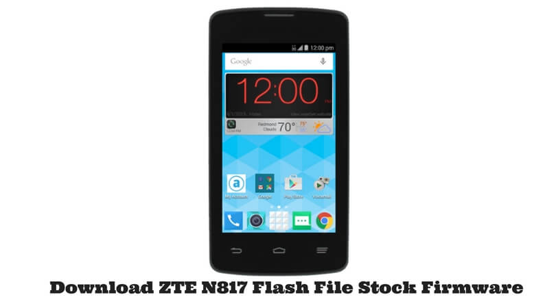 ZTE N817 Flash File