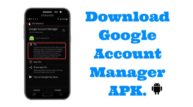 android google account manager apk