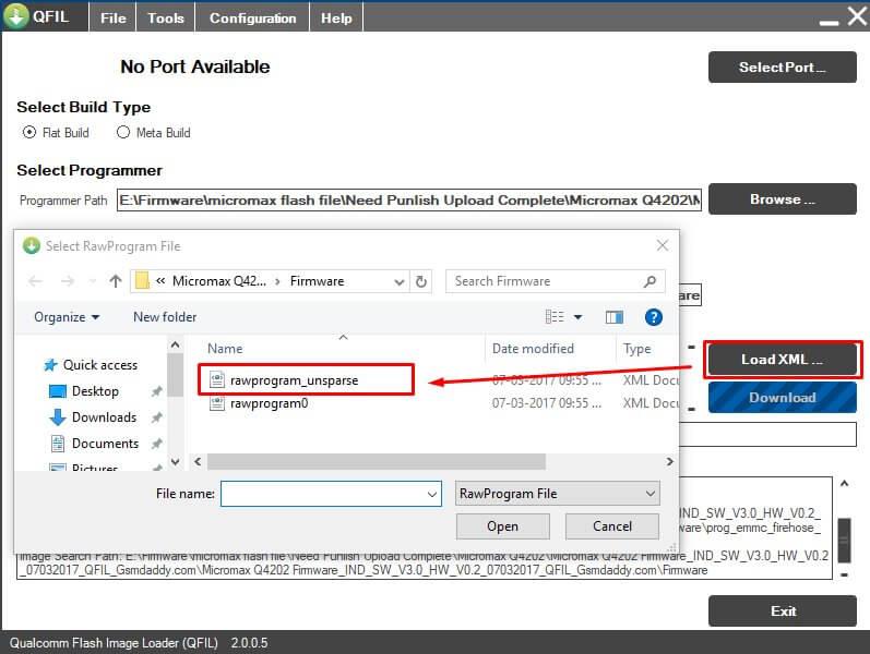 Qualcomm Flash Image Loader,QFIL Flash Tool